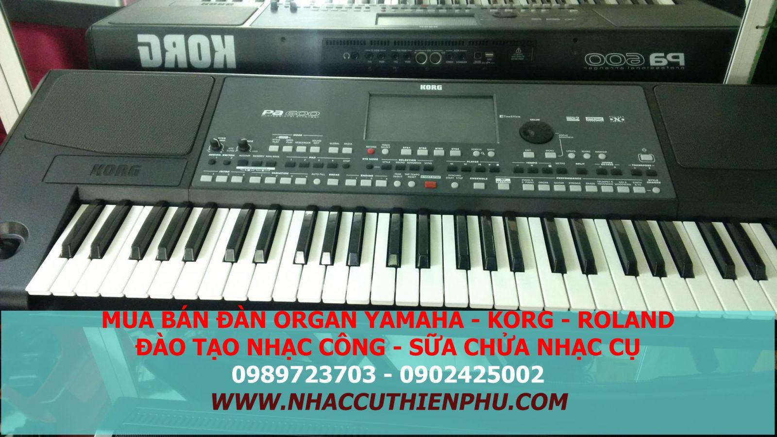 ĐÀN ORGAN KORG PA600 MỚI CHÍNH HẢNG