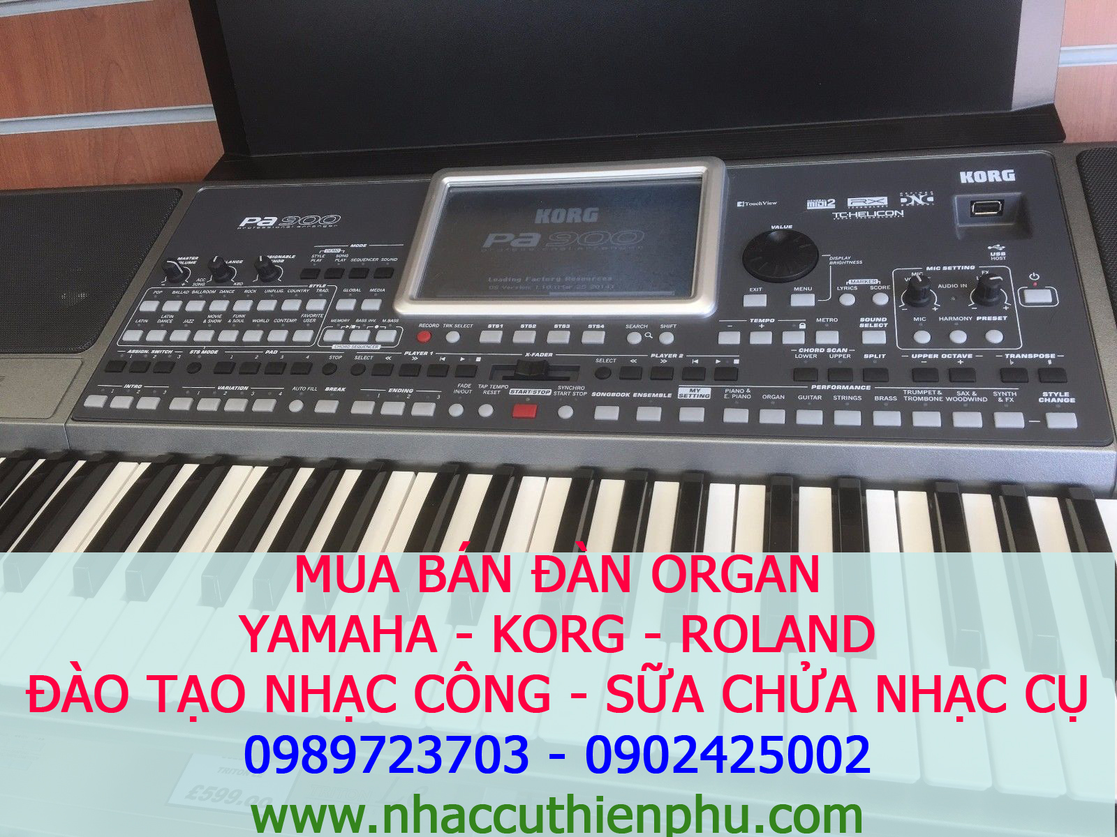 ORGAN KORG PA900 MỚI CHÍNH HẢNG